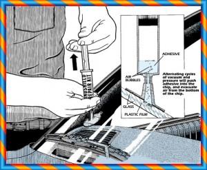 Car windscreen chip repair