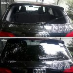Audi Q5 Rear Screen Replacement Before After