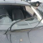 ford focus 2011 front windscreen before replacement