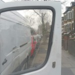 ford transit van after door glass replacement
