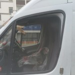 ford transit van before door glass replacement
