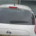 nissan juke rear screen after replacement