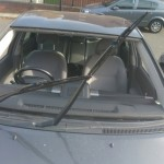 Toyota Prius Front Windscreen Before Replacement